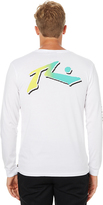 Rusty Smax Ls Mens Tee White
