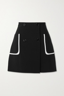 Fendi Crepe Mini Skirt - Navy