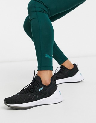 Puma Training jaab XT quilted sneakers in black