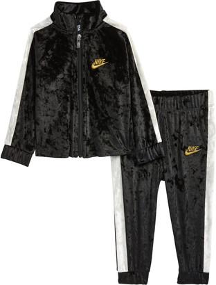 Nike Crushed Velour Track Jacket & Pants Set
