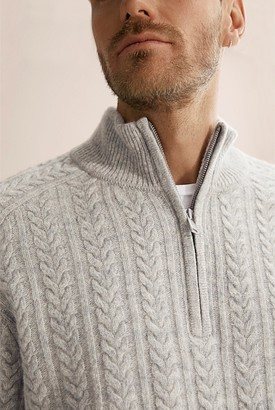 Country Road Cable Half Zip Knit
