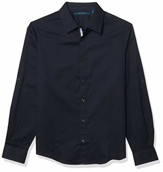 Perry Ellis Men's Solid Long Sleeve Button-Down Twill Shirt