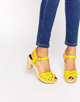 Swedish Hasbeens Yellow Fredrica Sandals