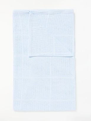 John Lewis & Partners Baby Cellular Cot/Cotbed Blanket, 160 x 130cm