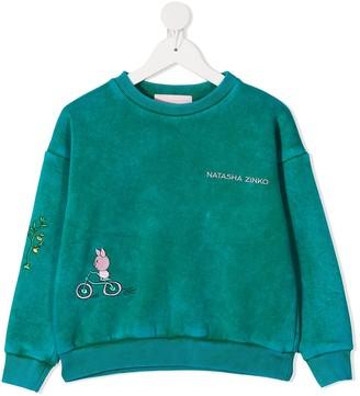 Natasha Zinko Kids TEEN embroidered logo sweatshirt