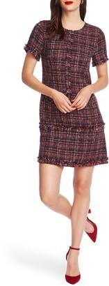 Court & Rowe Preppy Tweed Fringe Trim Dress