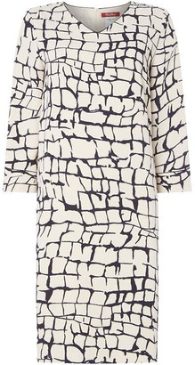 Max Mara Destino v neck shift dress