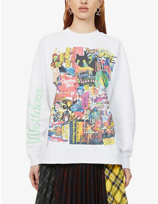 we11done Horror Collage-print cotton-jersey T-shirt