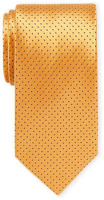 Piattelli Bruno Orange Pin Dot Silk Tie