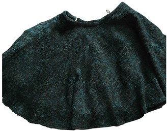 Kenzo Green Wool Skirt for Women