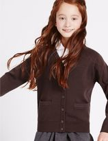 Marks and Spencer Girls' Cotton Rich Cardigan