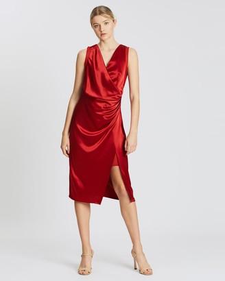 Reiss Drape Cocktail Dress