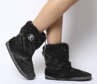 Bedroom Athletics Marilyn Short Faux Fur Boots Charcoal