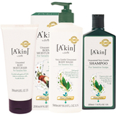 Akin A'kin Unscented Hair and Body Trio (Worth £50.00)