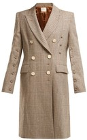 Hillier Bartley Double-breasted Checked Wool Coat - Womens - Brown Multi