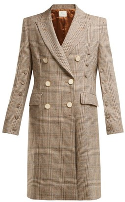 Hillier Bartley Double-breasted Checked Wool Coat - Brown Multi