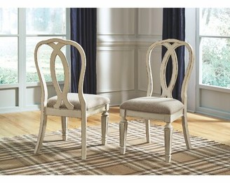 Ophelia & Co. Sara Upholstered Queen Anne Back Side Chair in White (Set of 2