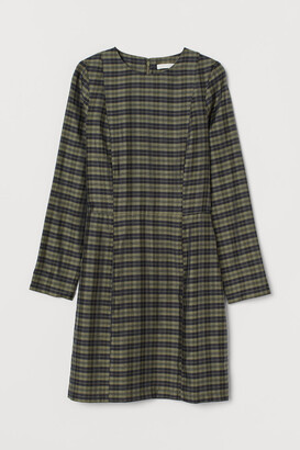 H&M Lyocell-blend Dress - Green