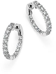 Bloomingdale's Diamond Inside Out Hoop Earrings in 14K White Gold, 2.0 ct. t.w.