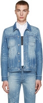 Givenchy Blue Distressed Denim Jacket