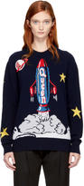 Dolce & Gabbana Navy Spaceship Sweater