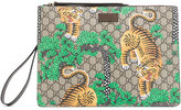 Gucci Bengal tiger print pouch - men - Leather/Polyurethane - One Size