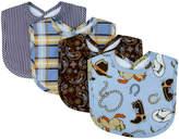 Trend Lab Blue Cowboy Baby Bib - Set of Four