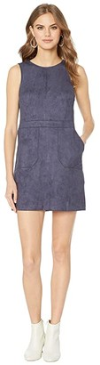 Bishop + Young Gemma Faux Suede Dress (Indigo) Women's Clothing