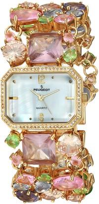 Peugeot Women's Mosaic Colored Glass Bracelet Watch