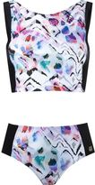BRIGITTE printed crop top bikini set - women - Polyamide/Spandex/Elastane - G