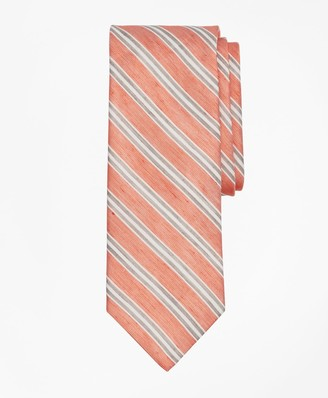Brooks Brothers Linen and Silk Stripe Tie