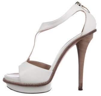 Salvatore Ferragamo Leather Caged Sandals