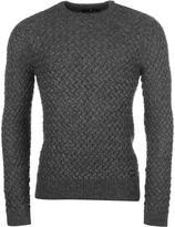 Firetrap Texture Knit Jumper Mens