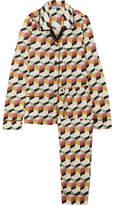 Prada Printed Silk-twill Pajama Set - Ivory