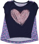 Design History Solid Hi-Lo Top (Toddler/Kids) - Indigo/Amethyst-3T