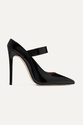 Victoria Beckham Solar Glossed-leather Mary Jane Pumps - Black