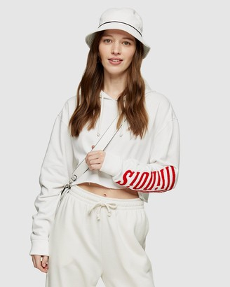 Topshop Women's White Hoodies - Illinois Hoodie - Size M at The Iconic