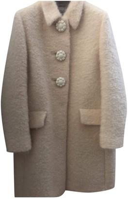 Miu Miu Yellow Wool Coat for Women