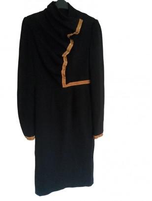 Nathan Jenden Black Wool Dresses