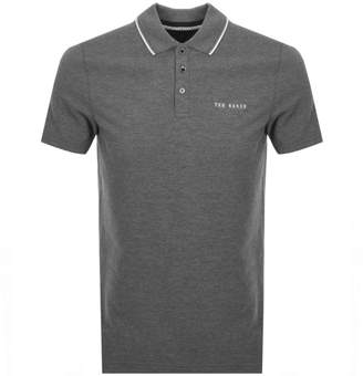 Ted Baker Bloko Polo T Shirt Grey