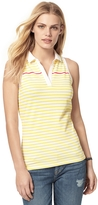 Tommy Hilfiger Final Sale- Stripe Sleeveless Polo