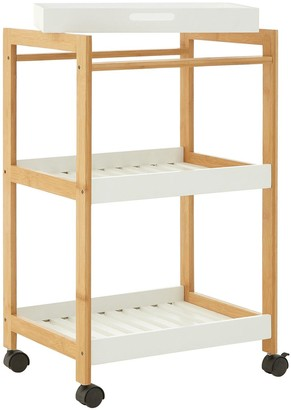 Premier Housewares Nostra 3 Tier Shelf Unit With Wheels
