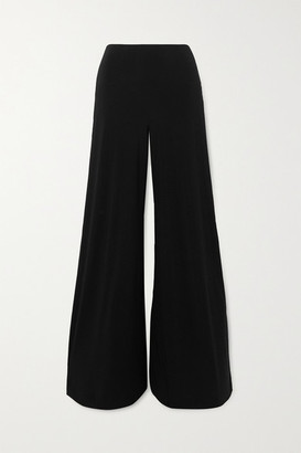 Norma Kamali Elephant Stretch-jersey Wide-leg Pants - Black