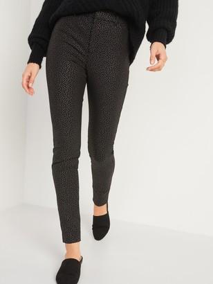 Old Navy All-New High-Waisted Pixie Foil-Dot Full-Length Pants for Women