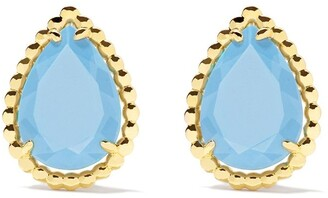 Boucheron 18kt yellow gold Serpent Boheme turquoise S motif teardrop stud earrings
