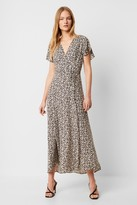 French Connection Aubi Rayon V Neck Maxi Dress
