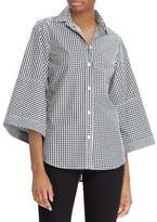 Lauren Ralph Lauren Gingham Button-Down Cotton Shirt