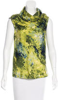 Peter Som Silk Watercolor Print Top