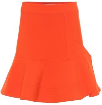 Victoria Victoria Beckham Ruffled stretch miniskirt