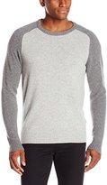 Haggar Men's Color-Block Crew-Neck Sweater